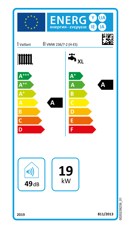 Vaillant ecoTEC Pure VMW 236 7-2 eficiencia energética