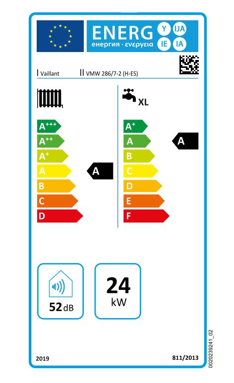 Vaillant ecoTEC Pure VMW 286 7-2 eficiencia energética