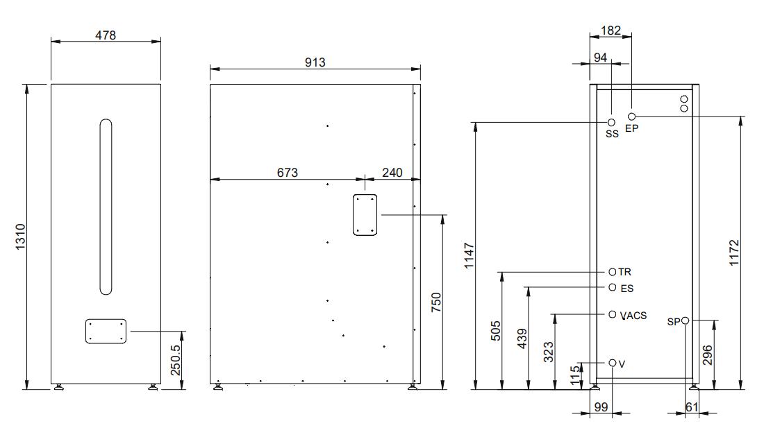 deposito reserva acs htp 100-150 dimensiones