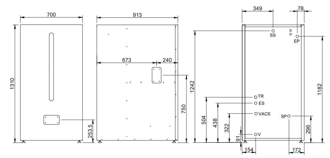 deposito reserva acs htp 130-200 dimensiones