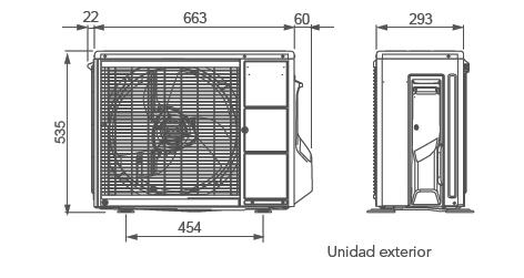 Aire acondicionado fujitsu asy 35 ui llce for Aire acondicionado aparato exterior