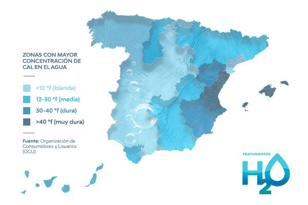 Mapa Dureza del Agua España
