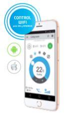 Control Wifi incluido de serie con la compra del aire acondicionado